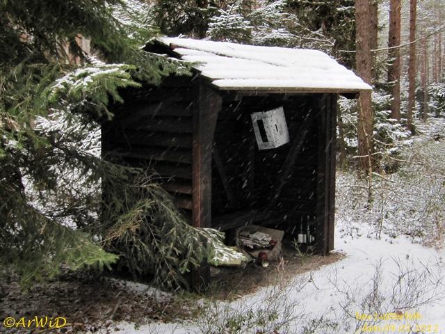 Ehemalige Schützhütte Grüner Weg 2012 (2)