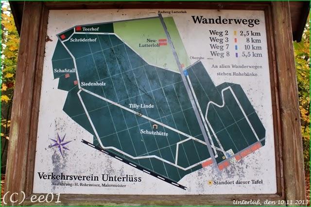 ©Alte Wanderwegkarte Unterlüß (2)