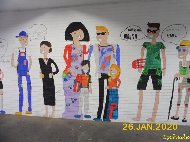 Kunstwerke im Tunnel Eschede 2020 (2)
